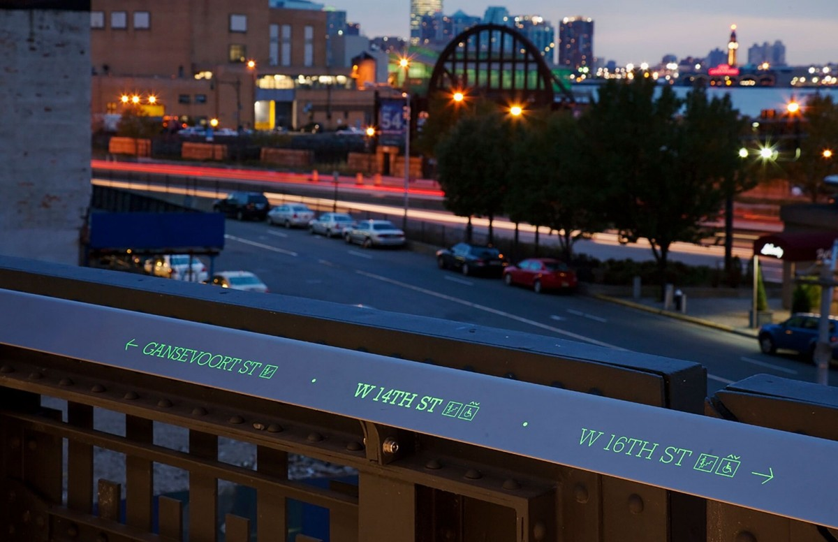 Signage for the High Line, 2009