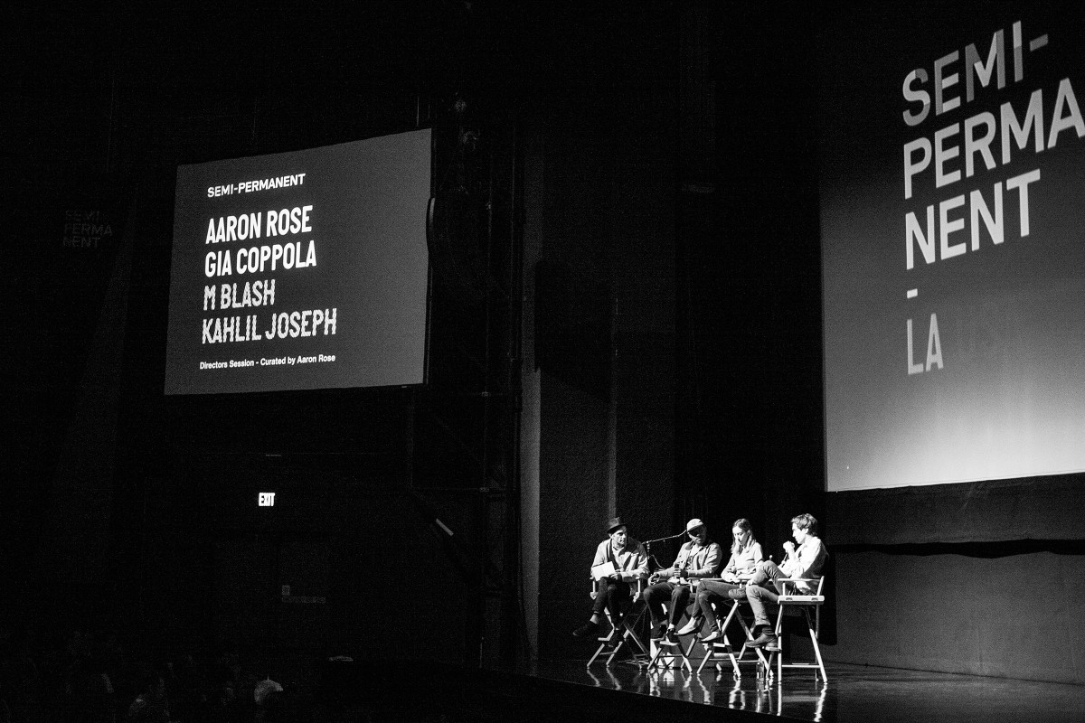 Semi Permanent Los Angeles 2013 - Aaron Rose, Kahlil Joseph, Gia Coppola and M Blash