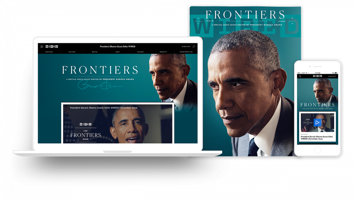 Scott Dadich of Godfrey Dadich and his interview with Barack Obama for WIRED