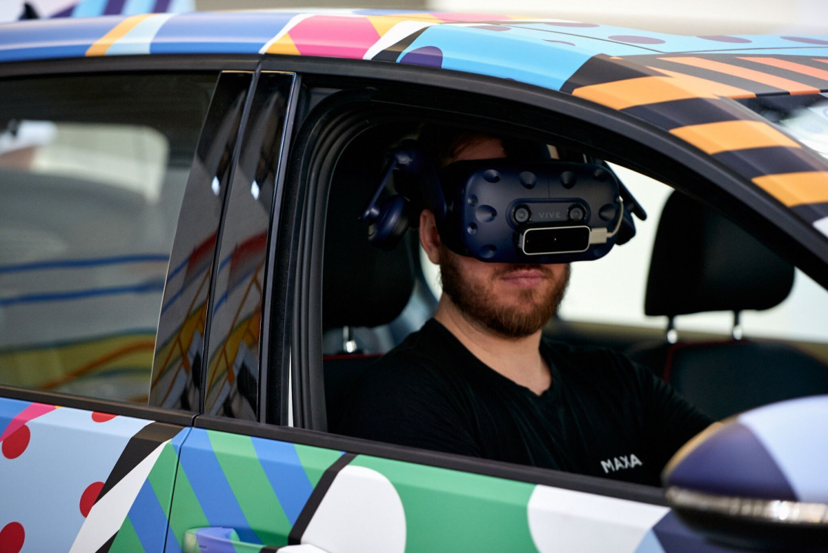 """Part of the VR experience was to test the emergency break"" says VW's Kurt McGuiness. ""You're not going to get a test car and say 'OK I'm going to drive this towards a wall and hope it stops'. While you hope to never have to experience it, you want to trust it will do its job."""