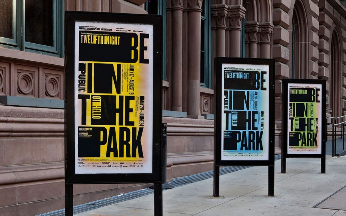 Season campaign for Shakespeare in the Park, the Public Theater, 2018