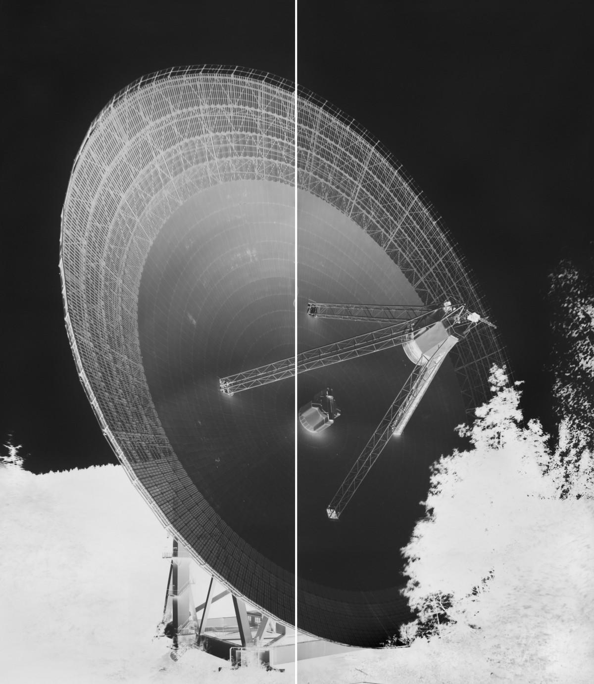 Very Lutter, Radio Telescope, Effelsberg, XV: September 12, 2013. Silver gelatine print. Courtesy Gagosian Gallery.