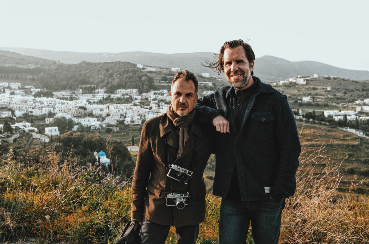 Platon and Scott Dadich in Greece filming Abstract