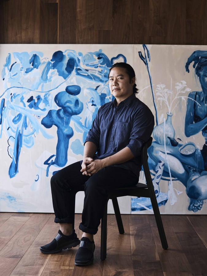 Artist James Jean in his Los Angeles studio